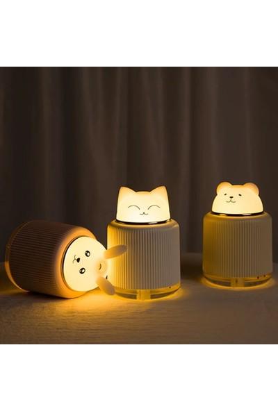 LED Işıklı Sevimli Ayı Hava Nemlendiricili Gece Lambası