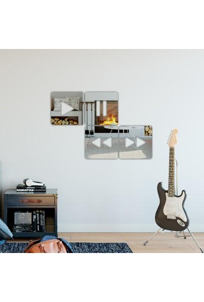 Dez Müziksever 4'lü Dekoratif Duvar Aynası