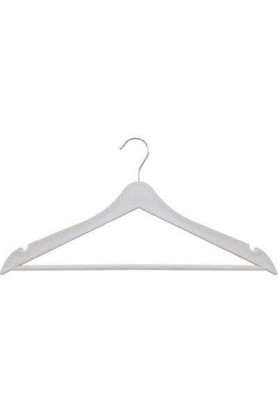 Moniev Ahşap Görünümlü 12'li Elbise Askısı