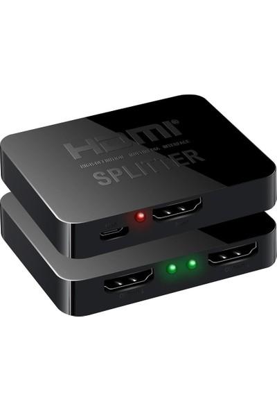 Gplus 4KHD102M 1x2 HDMI 4K Ultra Hd 2160P 1 Giriş 2 Çıkış Mini Splitter Görüntü Çoklayıcı