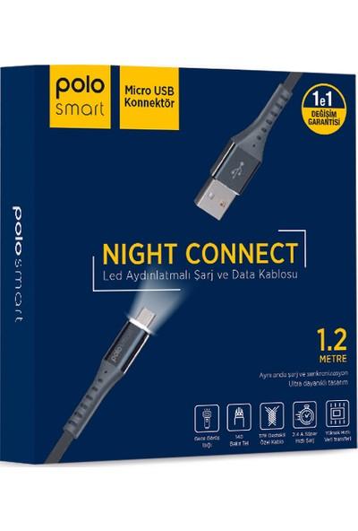 Polosmart PSM24 Micro USB LED Aydınlatmalı Şarj ve Data Kablosu
