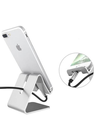 Wonderland Wlue Masaüstü Metal Stand Telefon ve Tablet Standı Dock Siyah