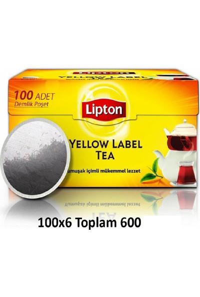 Lipton Yellow Label Demlik Poşet Çay 100 x 6 Paket 600'lü