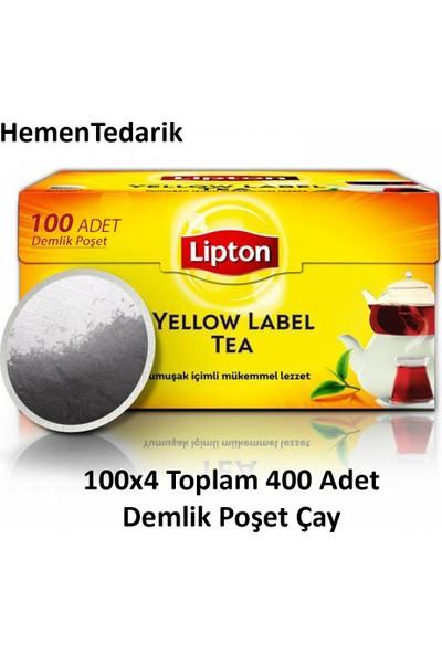 Lipton Yellow Label Demlik Poşet Çay 100 x 4 Paket 400'lü