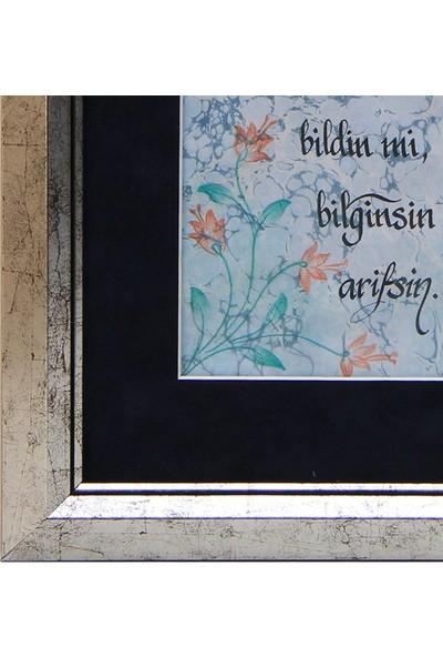 Kaligrafi Yazılı Ebru Tablo