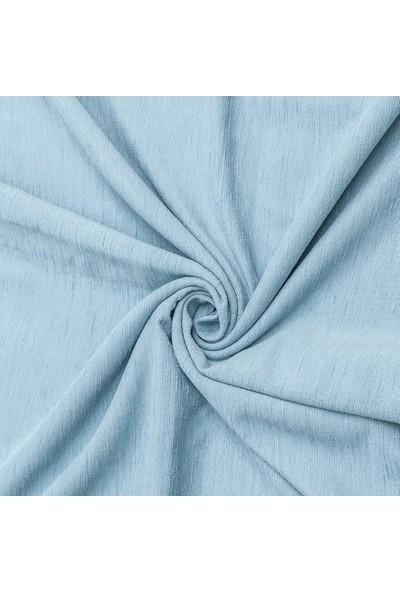 Latuda Şönil Çift Taraflı Kaymaz Çekyat Örtüsü ve Koltuk Şalı Buz Mavisi