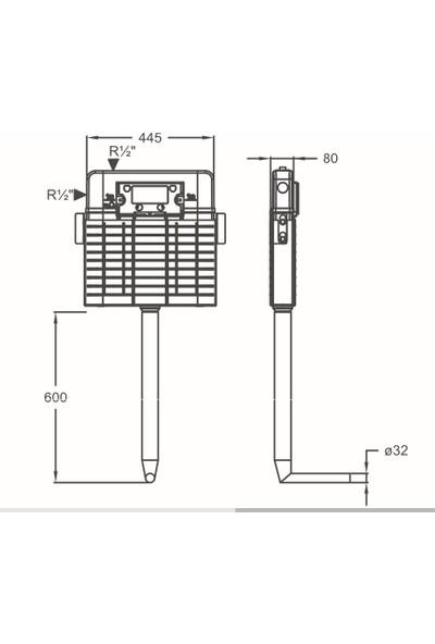Japar Promicro 51029 Çift Kademeli Gömme Rezervuar 80 mm