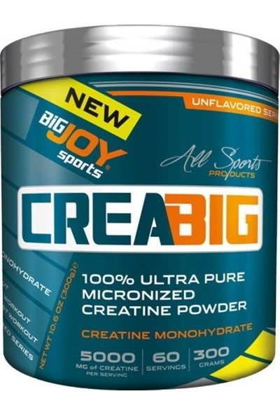 Bigjoy Sports Creabig Powder Creatine Monohydrate Micronized 300g