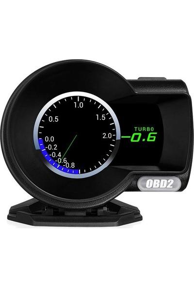 Gplus F8 Hud Head Up Display Obd 48 Fonksiyonlu Araç Data Yansıtıcı Alarmlı Erken Uyarı Sistemi Hız Devir Gösterge Ekranı