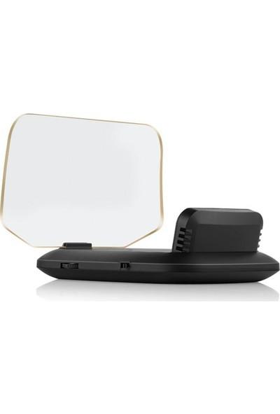 Gplus C1 Hud Head Up Display Obd ve Gps Destekli 4 Fonksiyon Araç Data Yansıtıcı Alarmlı Erken Uyarı Sistemi Hız Devir Gösterge Ekranı