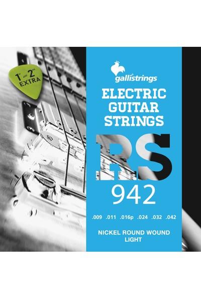 Galli RS942 Elektro Gitar Tel Takımı Light Nikel Wound Set 9-42