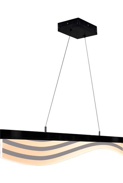 Tlt Panel Decoline Çizgi Dalga Led Li Sarkıt Avize