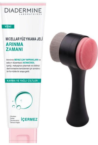 Diadermine Siyah Cilt Temizleme Fırçası + Micellar Yüz Yıkama Jeli Arınma Zamanı 150 ml
