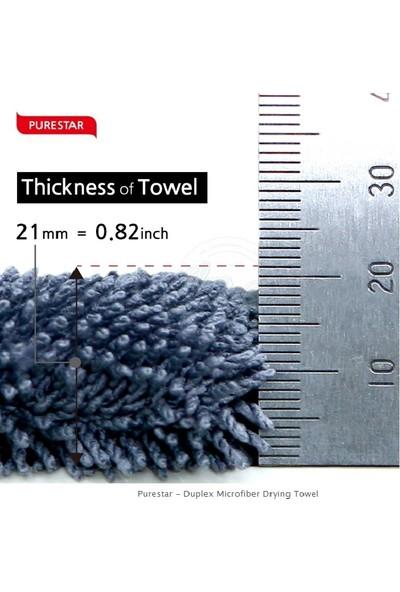 Superclean Mikrofiber Purestar DUBLEX Oto Kurulama Bezi 1100 Gsm 45X75 cm