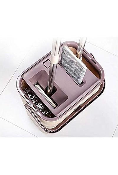 Zambak Tablet Mop Yeni Nesil Temizlik Kova Paspas Seti +4 Yedek Mikrofiber Başlık