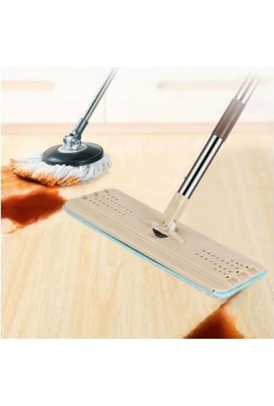 Spin Decor Tablet Mop Yeni Nesil Temizlik Kova Paspas Seti +2 Yedek Mikrofiber Başlık
