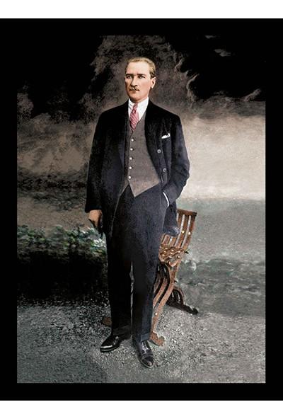 Magazacım Atatürk Takım Elbiseli Boy Resmi Kanvas Tablo TBL1215