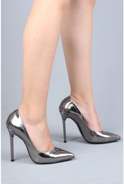 Modabuymus Platin Ayna Ince Topuklu Yüksek Stiletto - Lapita