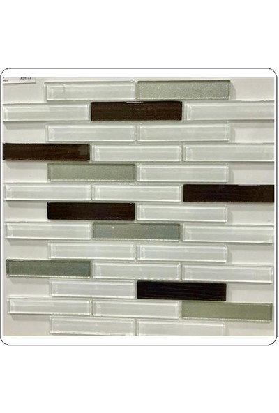 Revista Mutfak Tezgah Arası Kristal Cam Mozaik