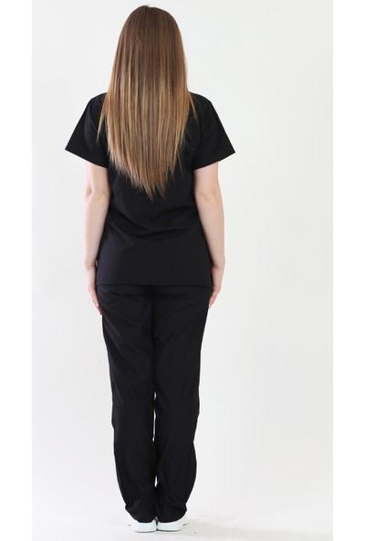 Moda Canel Zarf Yaka Cerrahi Nöbet Takım Terikoton Kumaş
