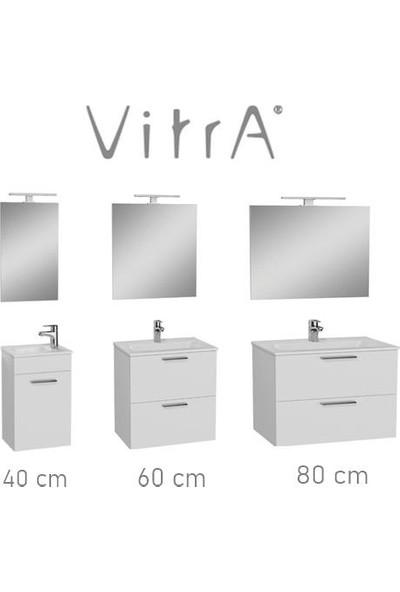 VitrA Banyo Dolabı 80 cm 2 Çekmeceli̇ Parlak Beyaz Mia Banyo Dolabı