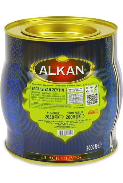 Alkan Organik Az Tuzlu Siyah Zeytin 2 kg