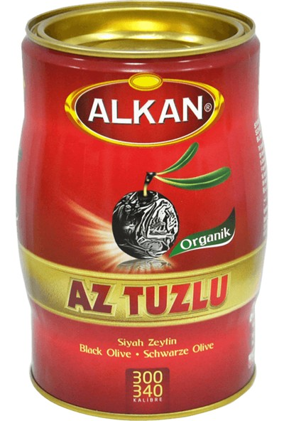 Alkan Gemlik Az Tuzlu Siyah Zeytin 1 kg