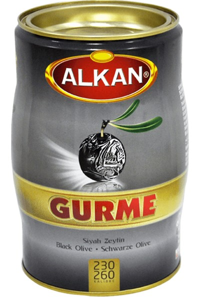 Alkan Gemlik Gurme Siyah Zeytin 1 kg