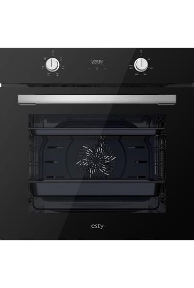 Esty Siyah Cam Ankastre Set - ( Fırın AEF6603B02 - Ocak ACO5335B01 - Davlumbaz 3471B6 )