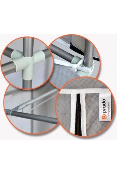 Prado Stark Xtra Çift Yandan Raflı Çelik Profil Bez Dolap Lacivert