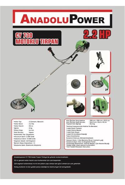 Anadolu Power CY730 Motorlu Tırpan 2.2 Hp