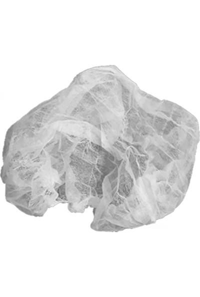 Buriş Tek Kullanımlık Akordeon Bone 100'lü Paket Beyaz