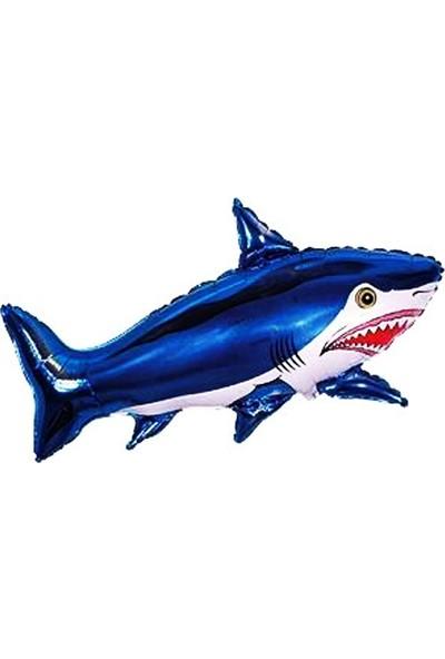 İkm Köpek Balığı Folyo Balon Balık Şeklinde Uçan Folyo Balon 80 x 33 cm