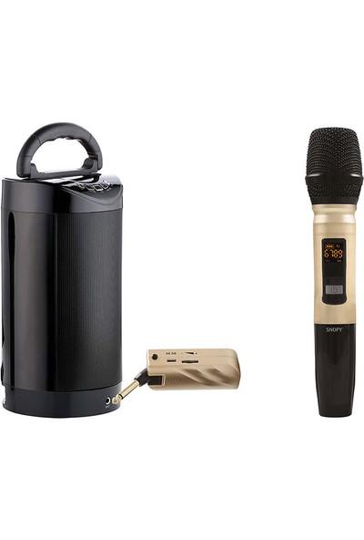 Snopy SN-U22 Gold UHF Kablosuz El Mikrofon