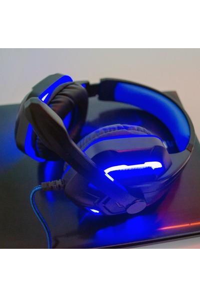 Komc G311 Oyuncu Kulaküstü Kulaklık Mavi