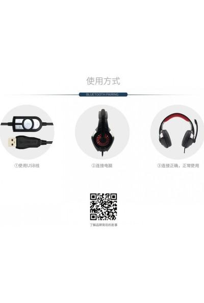 KOMC G308 Surround Ses LED Oyuncu Kulaklığı Mavi