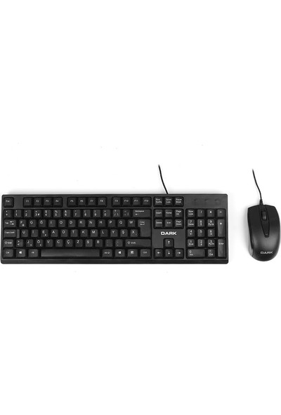 Dark KM1020F Karbon Desenli Türkçe F Klavye & Mouse Set (DK-AC-KM1020F)