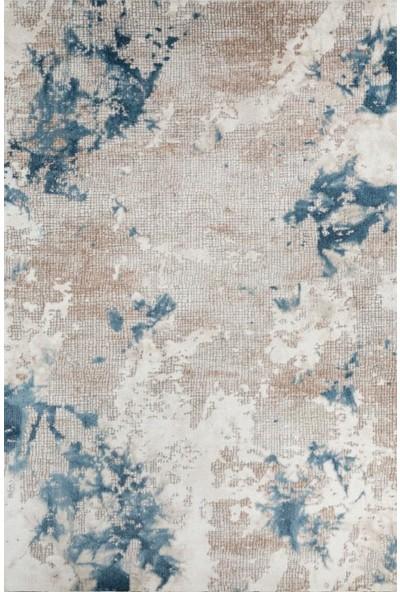Bahariye Craft Yolluk Halı LM 8603 Beyaz Mavi En 120 cm 120 x 100 cm