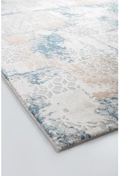 Bahariye Craft Yolluk Halı LM 9132 Beyaz Mavi En 120 cm 120 x 100 cm