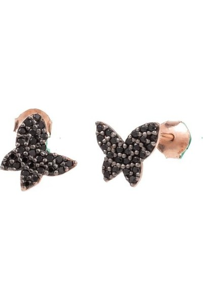 Masaliko Kelebek Minimal Gümüş Küpe