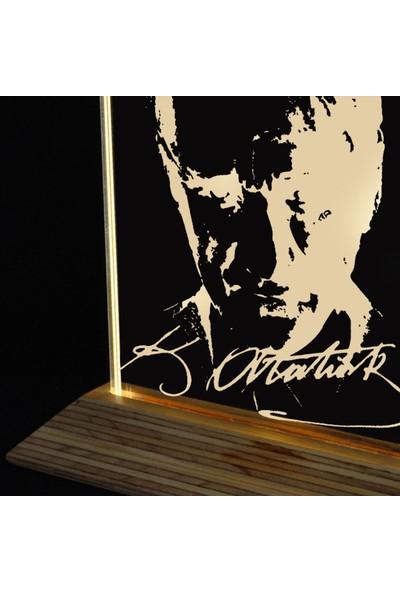 Tlt Panel Deco 3D Ata Led Li Masaüstü Lamba