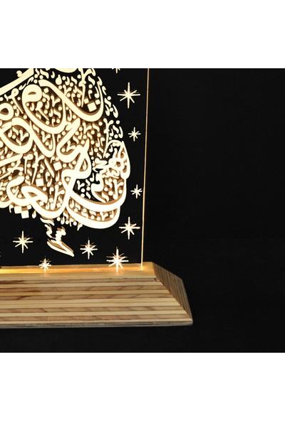 Tlt Panel Deco 3D Mevlana Led Li Masaüstü Lamba