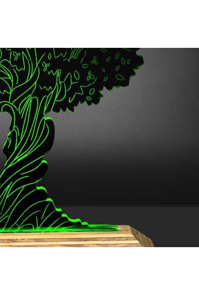 Tlt Panel Deco 3D Ağaç Led Li Masaüstü Lamba