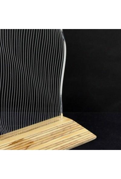 Tlt Panel Deco 3D Dalga Led Li Masaüstü Lamba