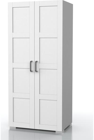 Dekorex MNT-211-BEYAZ -Iki Kapaklı Gardırop
