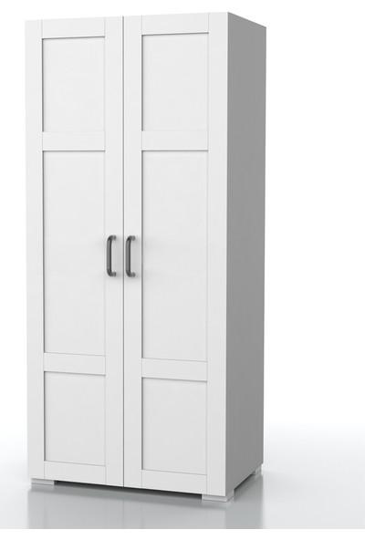 Dekorex MNT-215-BEYAZ -Iki Kapaklı Gardırop