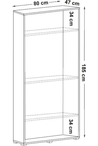 Dekorex MNT-214-BEYAZ -Iki Kapaklı Gardırop