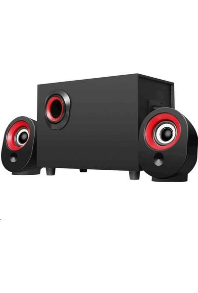 Havana FT-X7 2.1 Speaker Ekstra Bass Hoparlör Ses Sistemi 2+1 Kırmızı