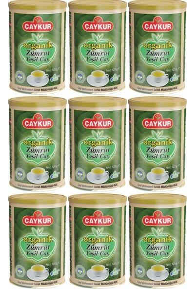 Çaykur Organik Çay Zümrüt Yeşil Çay 125 Gram x 9 Adet 1 Koli