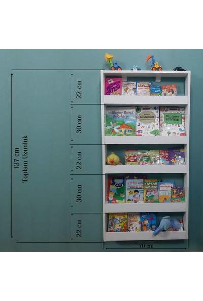 Emdief Home Montessori Mağazam - 5 Raflı Kitaplık